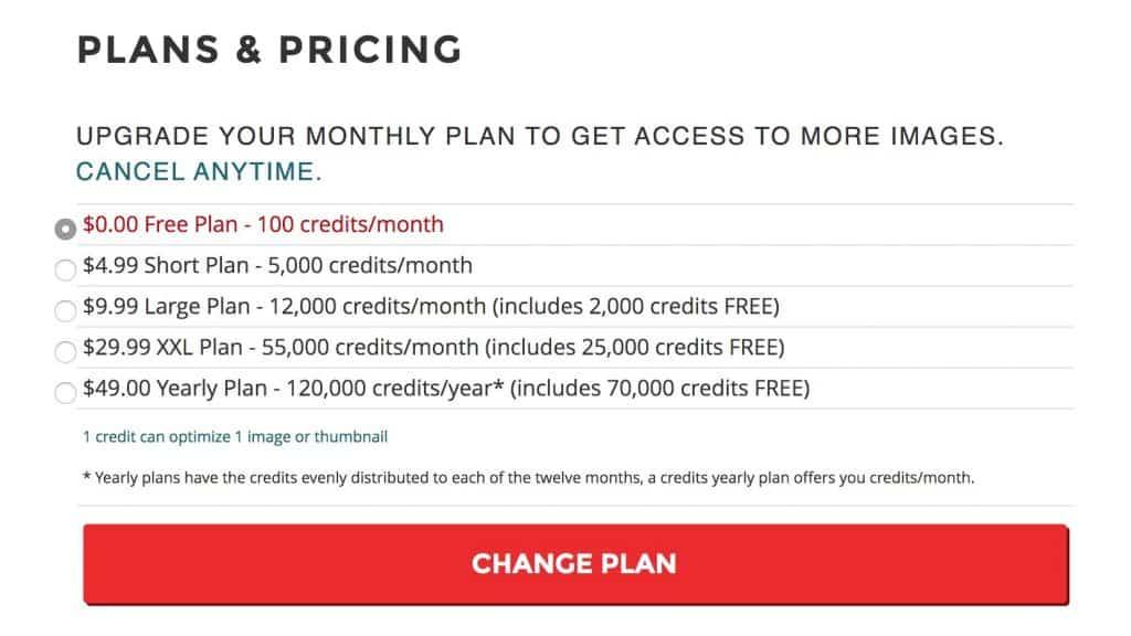 shortpixel monthly plan
